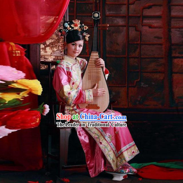 Chinese Classical Big Family Embroidered Lady Clothes