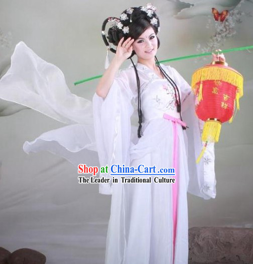 Tang Dynasty Imperial Concubine White Clothing Complete Set