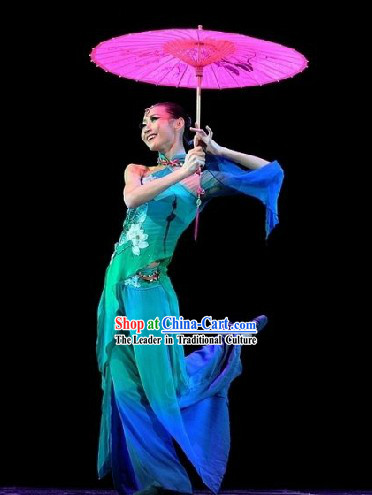 Chinese Classical Snake Dancing Costume and Headpiece for Women