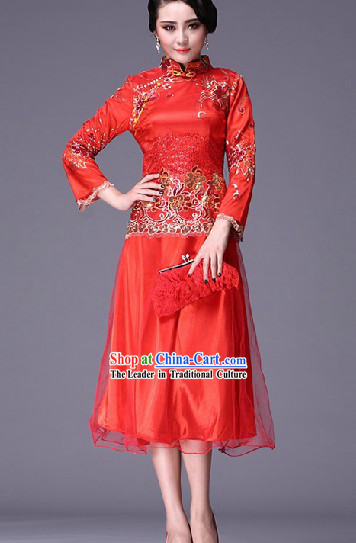 Chinese Classic Wedding Dress Complete Set for Brides