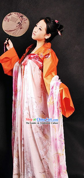 Ancient Chinese Tang Dynasty Housewife Costumes
