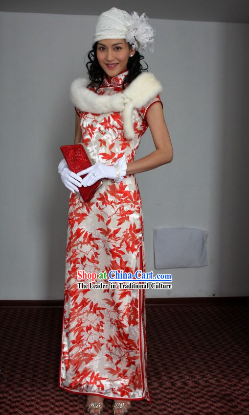 Minguo Time Shanghai Lady Qipao Cheongsam Clothing