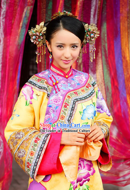 Ancient Chinese Qing Dynasty Beauty Clothing