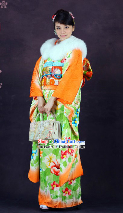 Traditional Japanese Princess Furisode Kimono