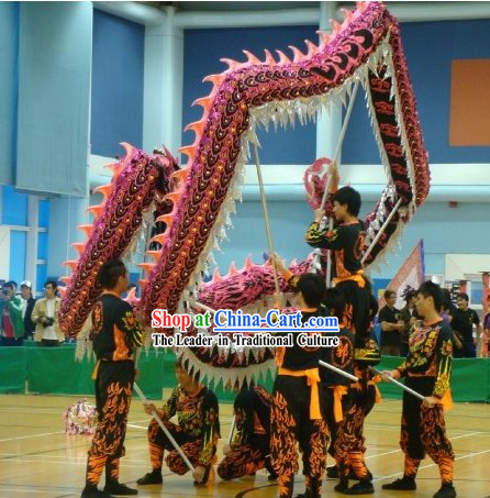 Happy Festival Celebration Luminous Dragon Dance Costumes Complete Set