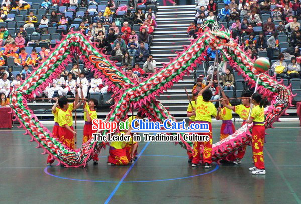 Top Chinese Competition and Parade Luminous Dragon Dance Costumes Complete Set for Children