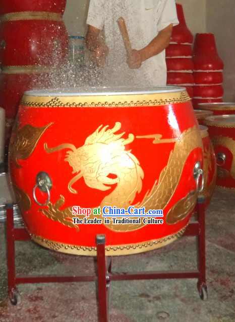 Traditional Chinese Water Splashing Dragon Drum