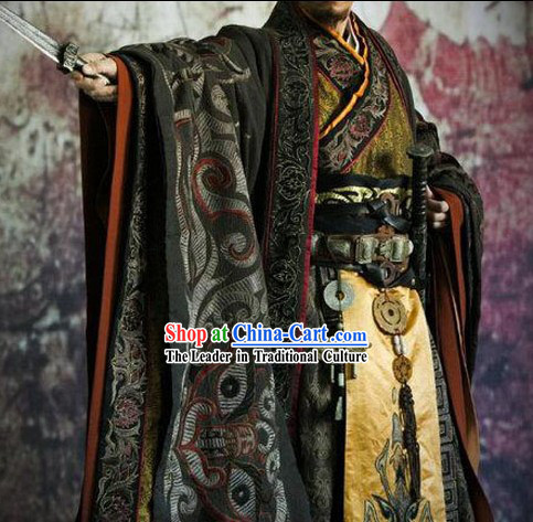 Ancient Chinese Han Dynasty Liu Bang Emperor Costumes Complete Set