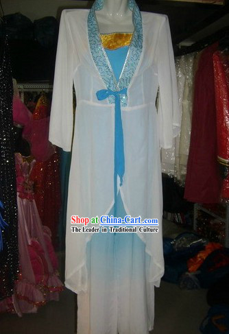 Chinese Classical Fan Dancing Costume for Women
