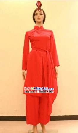 Chinese Red Classical Dancing Costume for Women