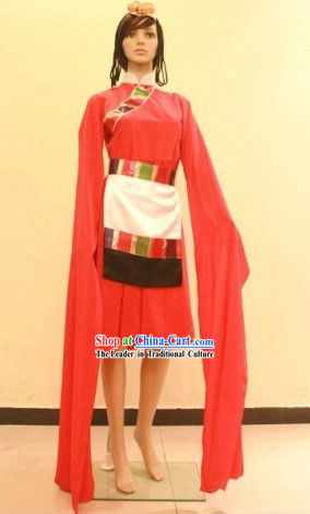 Traditional Chinese Tibetan Dance Costumes for Women