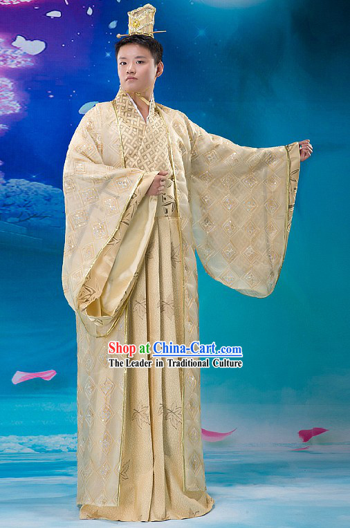 Ancient Chinese Prince Costume and Hat