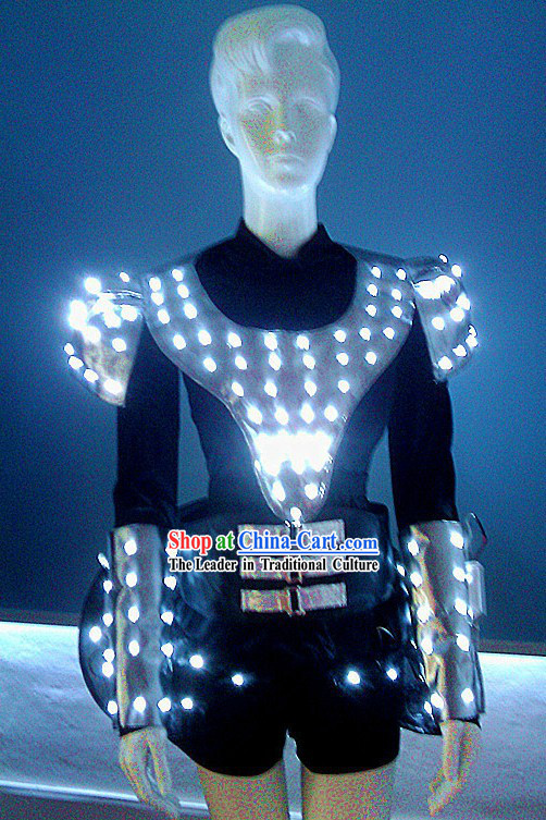 Electric LED Lights Luminous Dance Costumes Complete Set