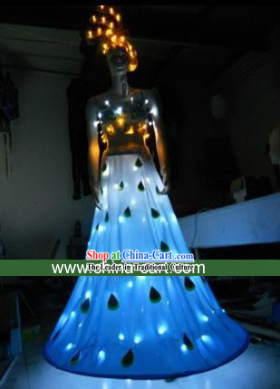 Electric LED Lights Dance Costumes Complete Set