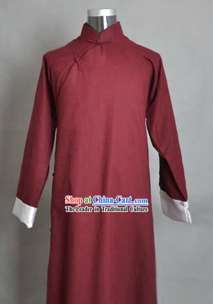 Traditional Chinese Minguo Time Old Shanghai Lu Xun Robe for Men