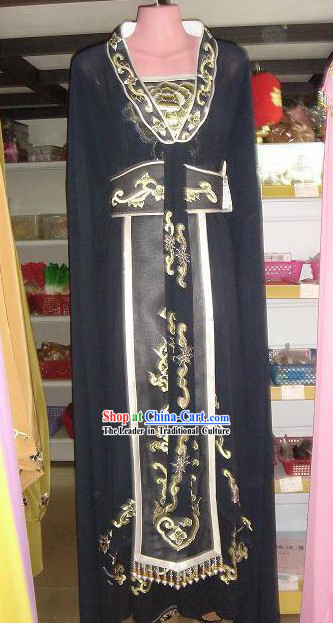 Ancient Chinese Black Palace Embroidered Costumes