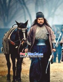 Three Kingdoms General Zhang Fei Costumes Complete Set for Men