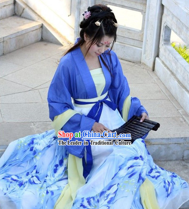 Ancient Chinese Han Clothing Complete Set for Girls