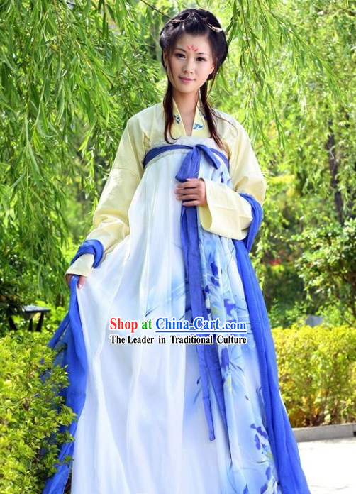 Ancient Chinese Qi Xiong Ruqun Clothing Complete Set for Girls
