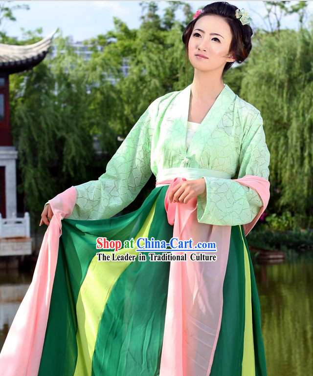 Ancient Chinese Shang Ru Clothing Complete Set for Girls