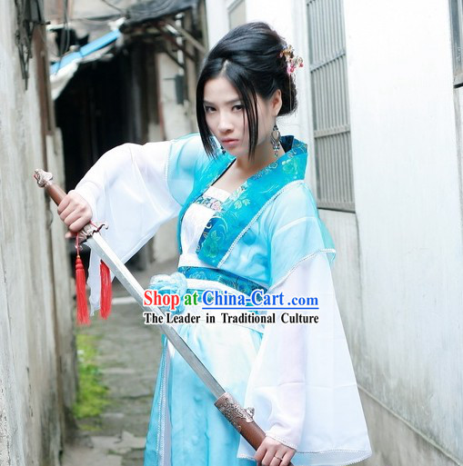 Chinese Women Kinight Costumes Complete Set