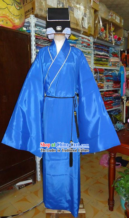 Ancient Chinese Government Official Private Adviser Costume and Hat