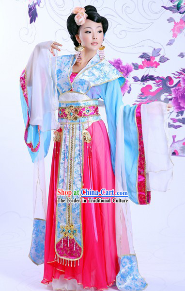 Ancient Chinese Imperial Princess Costume and Hair Accessories Complete Set