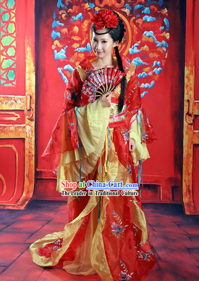 Ancient Chinese High Ranked Imperial Concubine Costume And