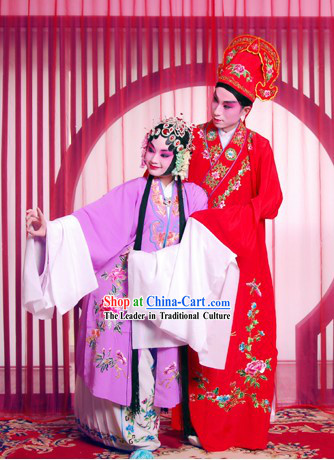 Beijing Opera Lover Couple Costumes Two Sets