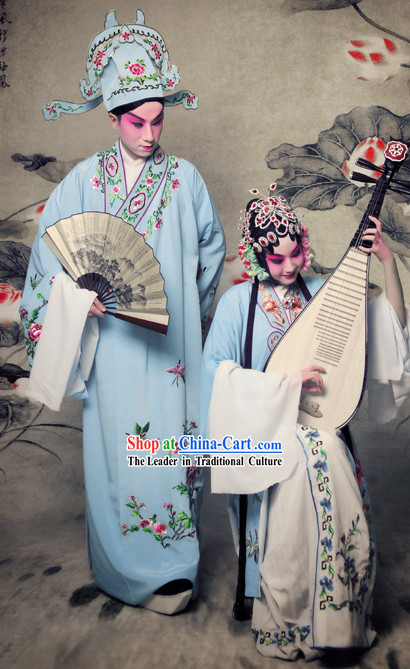 China Opera Dan and Sheng Costumes Two Complete Sets