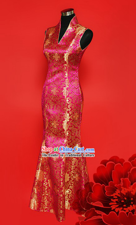 Traditional Chinese Wedding Cheongsam for Women
