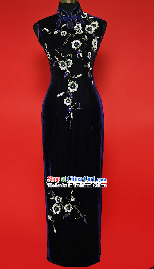 Chinese Old Shanghai Style Cheongsam for Women