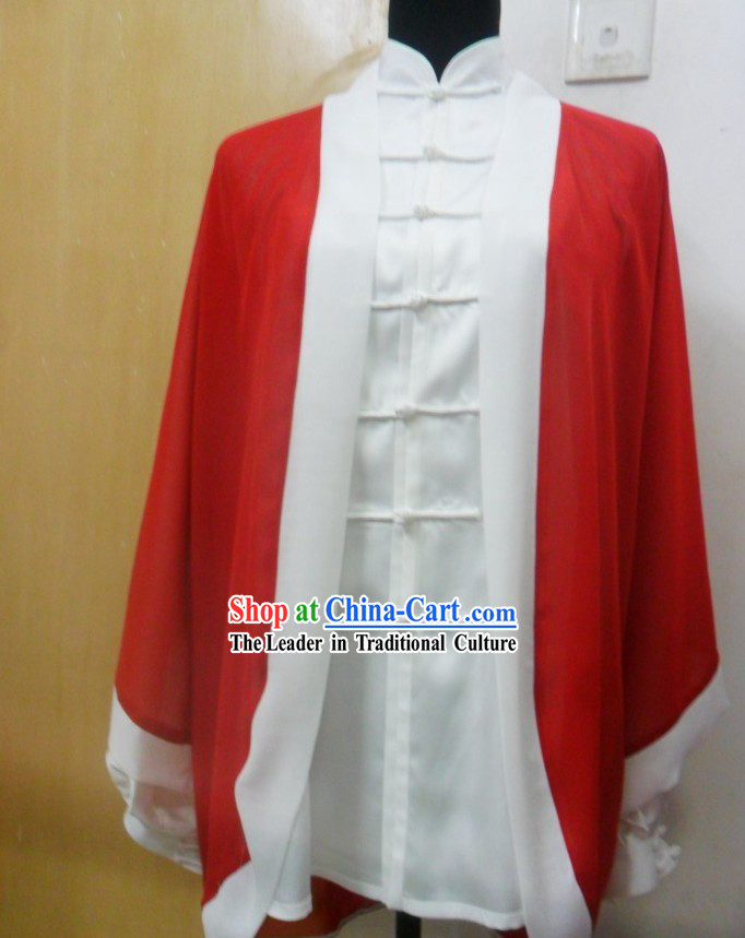 White Kung Fu Cape for Women
