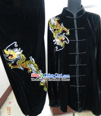 Black Dragon Sport Kung Fu Tournament Fighting Uniform for Men