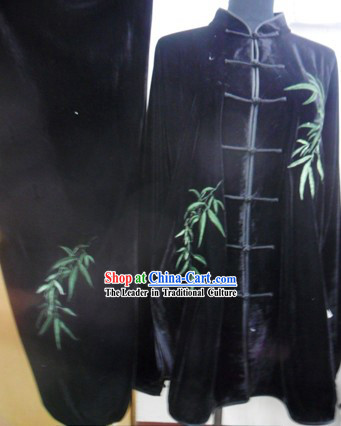 Black Bamboo International Kung Fu Tournaments Uniform for Men