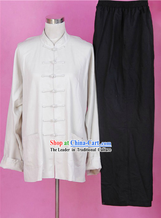 Bruce Lee Style Chinese Flax Martial Arts Costumes for Men