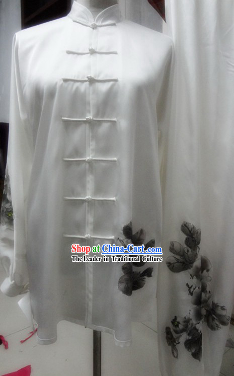 Oil Painting Martial Arts Tai Chi Costumes for Men and Women