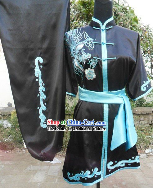 Silk Black Long Fist Changquan Uniform for Women