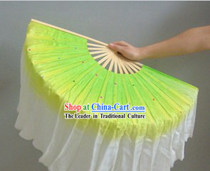Three Colors Color Transition Silk Dance Fan