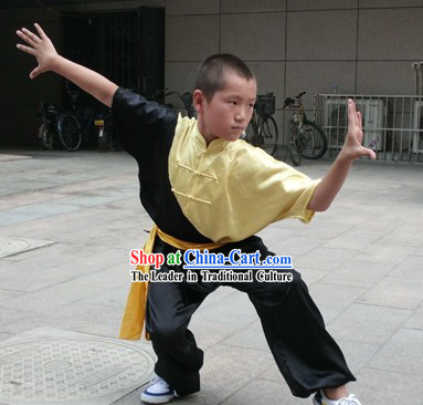 Comportable Silk Tai Chi Clothes for Children