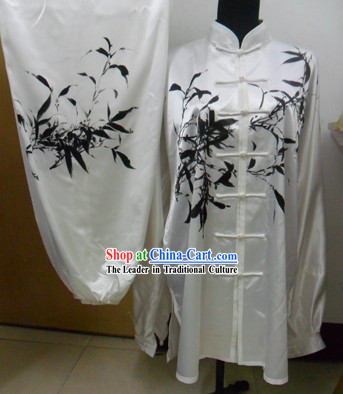 White Silk Bamboo Spirit Kung Fu Uniform for Men