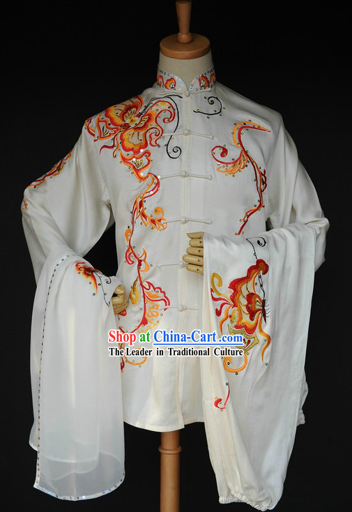 Supreme Chinese Martial Arts Silk Competiton Uniform for Men or Women
