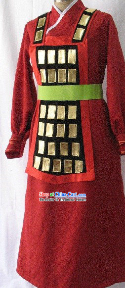 Ancient Chinese Solider Armor Costume Complete Set