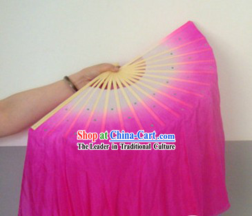 Chinese Rose Classic Silk Dance Fan