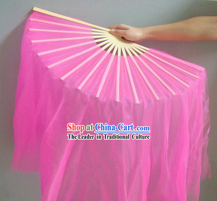 Transparent Pink Dance Fan