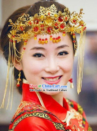 Ancient Chinese Wedding Headwear for Bride