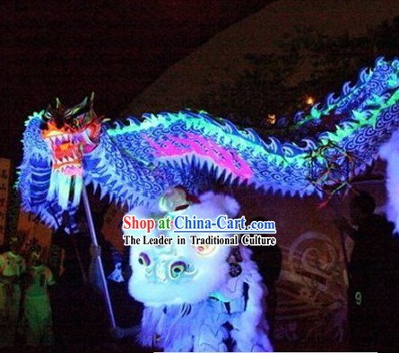 Glow in the Dark Dragon Dance Costume Complete Set
