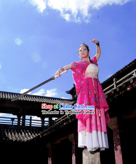 Ancient Chinese Swordswoman Costume Complete Set