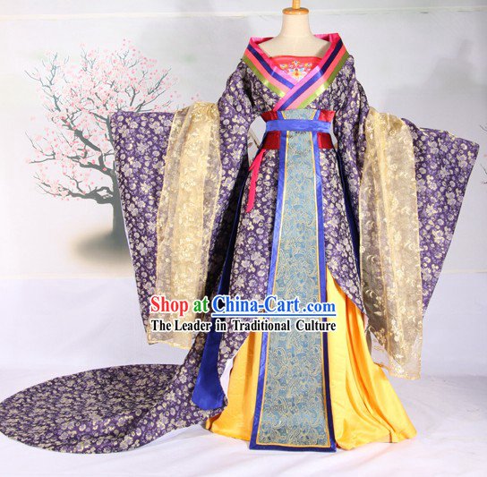 Ancient Chinese Tang Dynasty Empress Clothing Complete Set