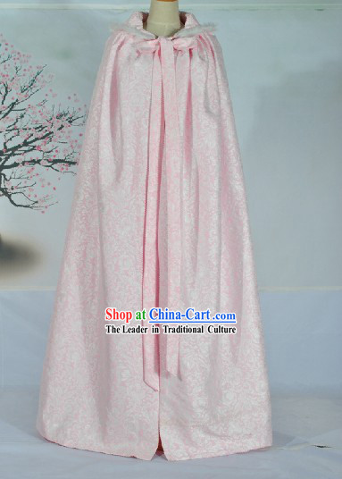 Ancient Chinese Pink Lady Cape Clothes